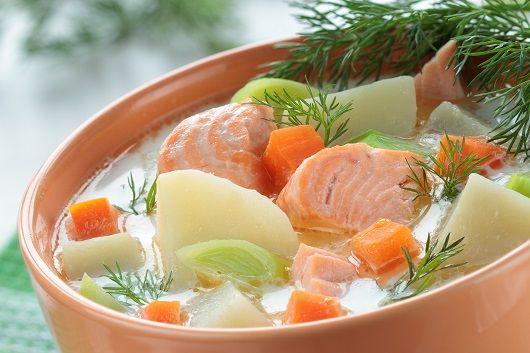 Сливочный суп из нерки